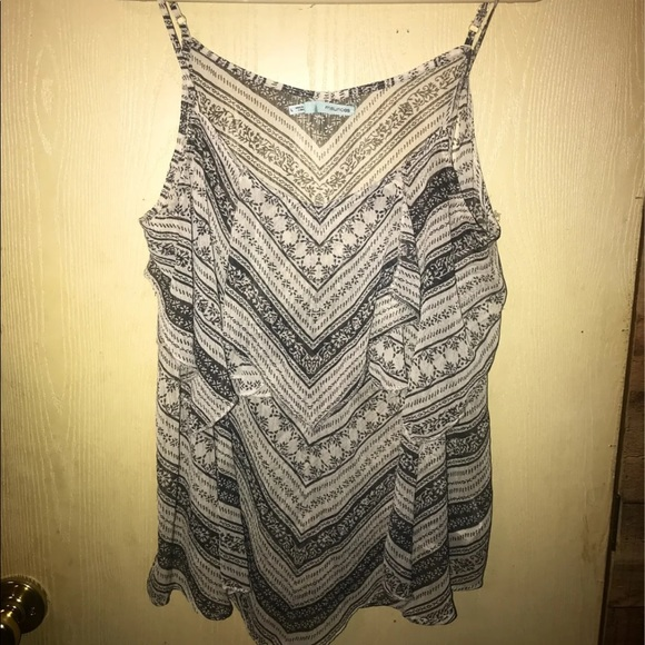 Maurices ruffle tank blouse